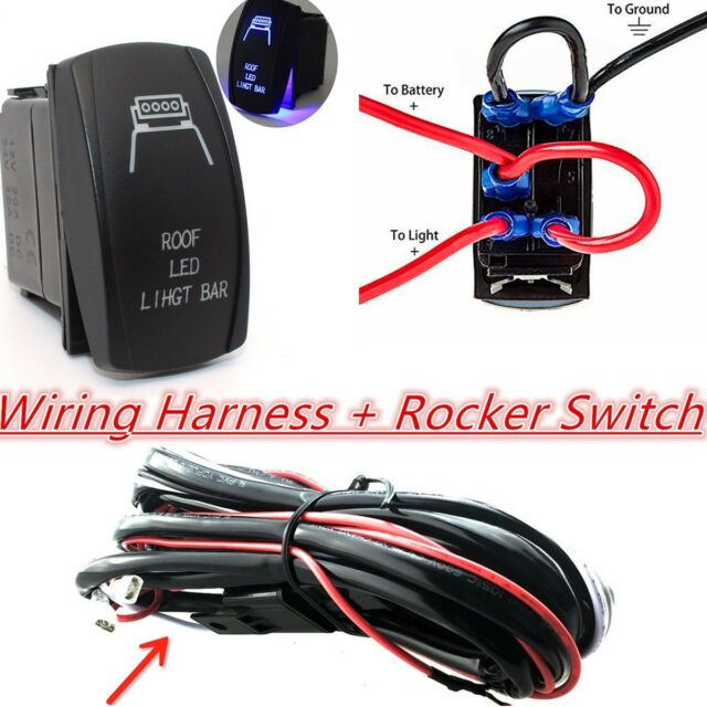 12v 4x4 Offroad Roof LED Light Bar Wiring Harness Laser ...