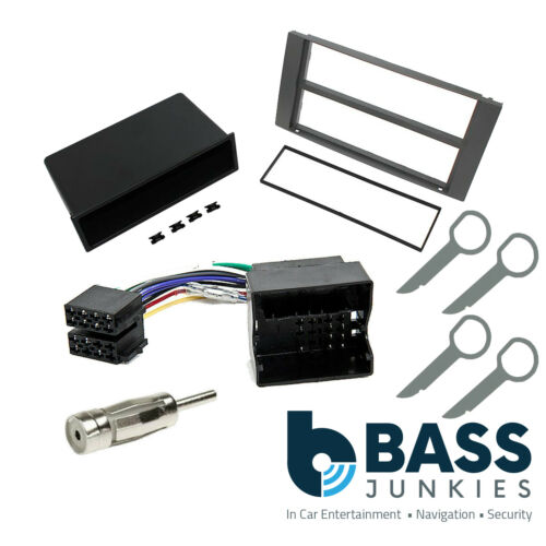 Ford Fiesta Transit Focus C//Max Car Stereo SILVER Single Din Fascia Kit
