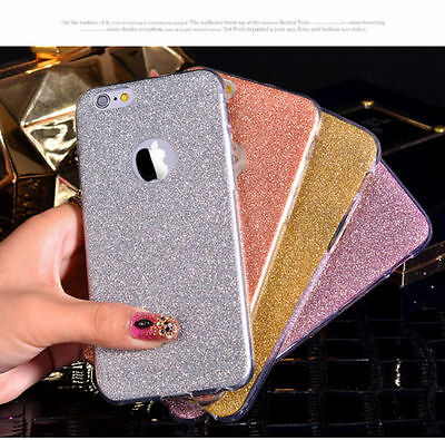 Glitter Bling ShockProof Silicone Soft Case Cover For Apple iPhone 5 6 7 Plus SE