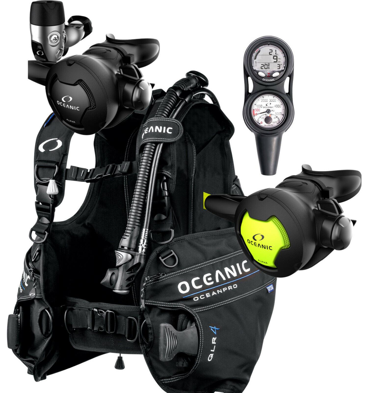 Oceanic Alpha 10, Ocean Pro, Veo Computer Package Scuba Diving Regulator SM
