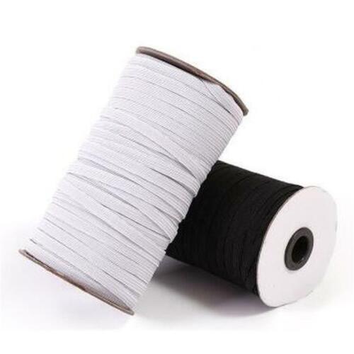 schwarz 1-264m x 5mm Breite Elastikband Hosengummi Gummikordel Gummiband weiss