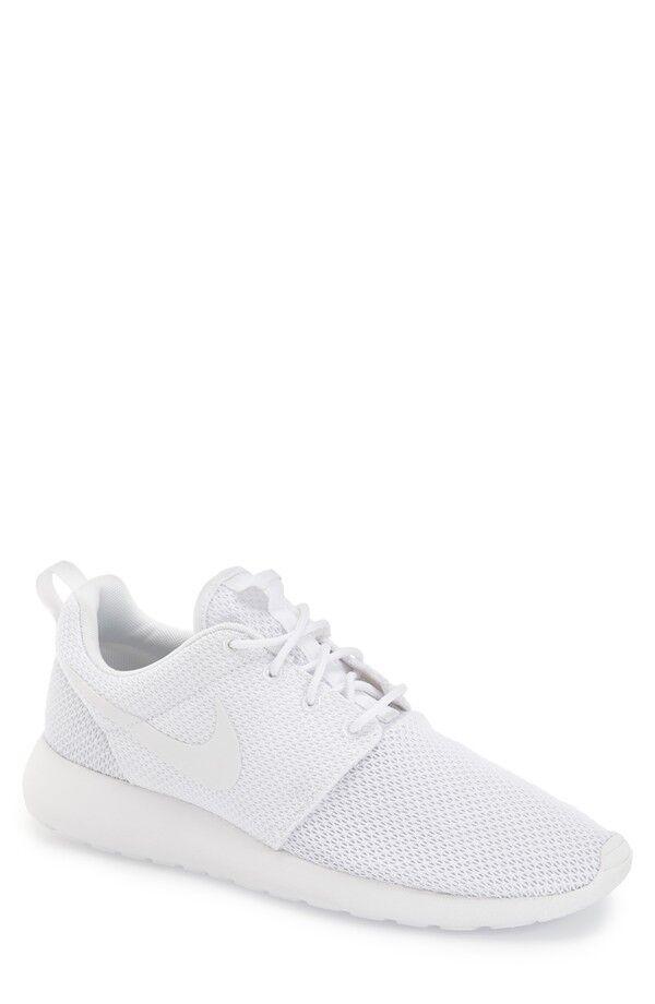 NEW Mens Nike Roshe Run One Casual shoes Triple White 511881-112