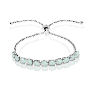 Oval-cut-6x4mm-Simulated-Opal-Adjustable-Tennis-Bracelet-in-Sterling-Silver