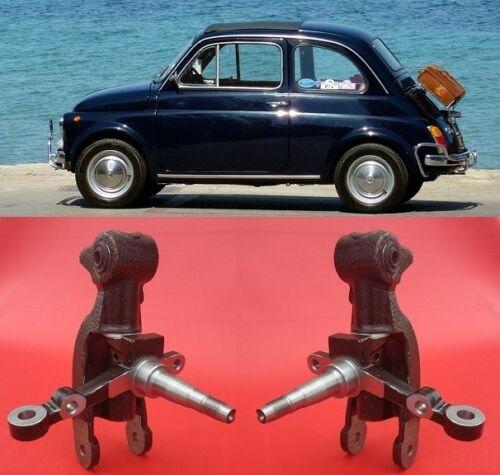 2 Fuselli nuovi per Fiat 500 F-L-R senza reso l/'usato Set of steering knuckles