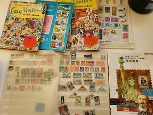 Collection-Of-Stamp-Albums-and-stamp-info-literature