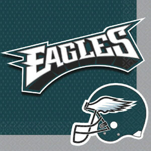 Details About Nfl Philadelphia Eagles Lunch Napkins 16 Birthday Party Supplies Serviettes