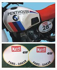 adesivi tabelle vintage BMW Paris Dakar  - adesivi/adhesives/stickers/decal
