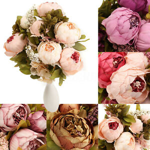 Flowers-Artificial-Peony-Silk-Fake-Bouquet-Home-Wedding-Decoration-Garden-Office