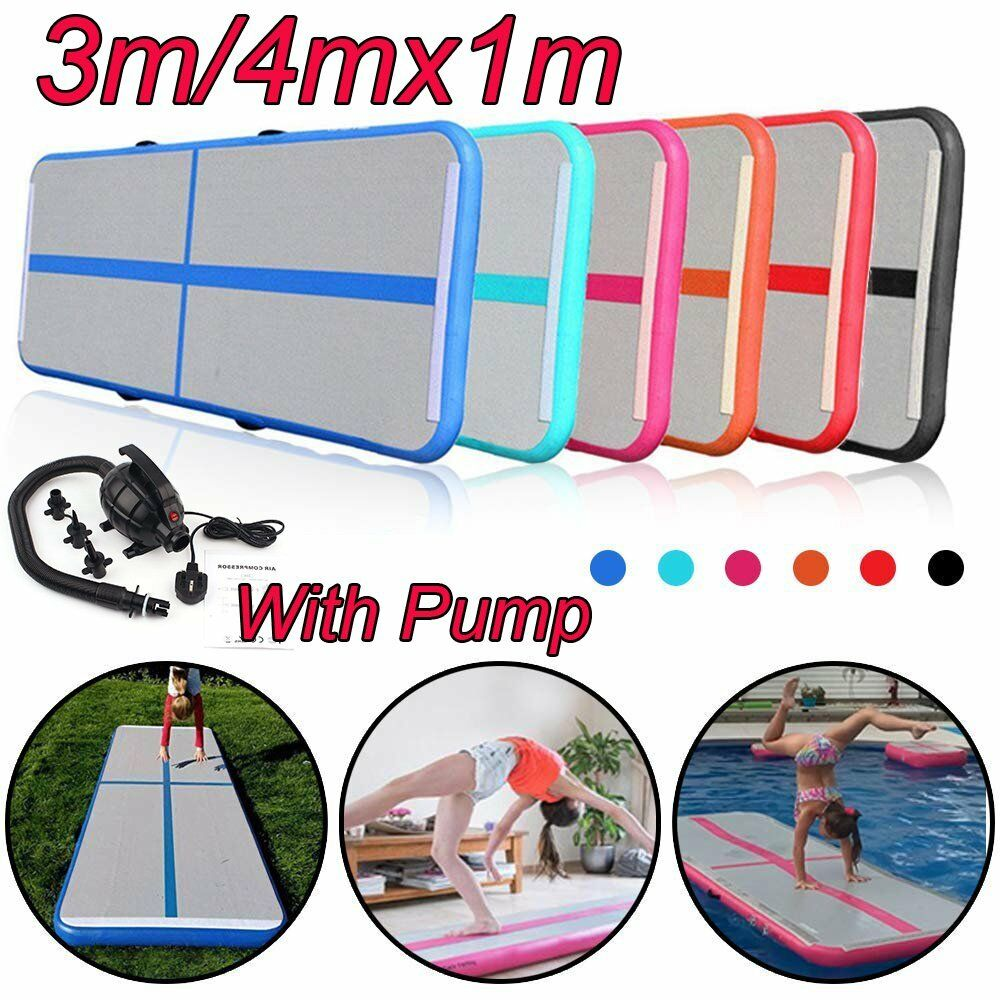 4M     3MAir Track Floor Home Gymnastics Tumbling Mat Inflatable GYM Matte Lot 5b9f68
