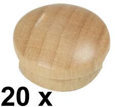 Abdeckkappe Kappe Buchenholz lackiert Stift 14,5/15,3  Kopf 19,3 mm - 20 Stück