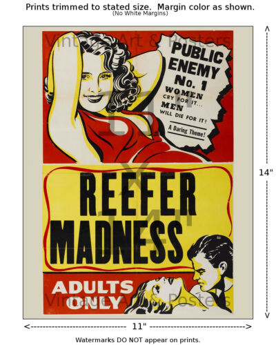 Reefer Madness #2 4 sizes, matte+glossy avail Vintage Film Movie Poster