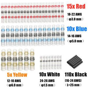150Pcs-Waterproof-Solder-Seal-Heat-Shrink-Sleeve-Wire-Butt-Terminals-Connectors