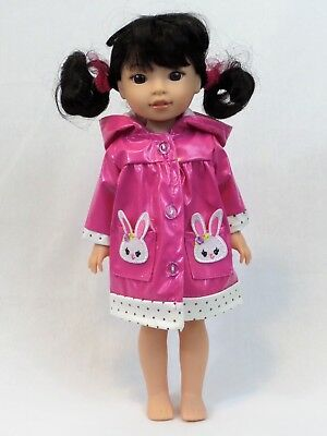 """BUNNY RABBIT Slip-On DOLL SLIPPERS fits American Girl 14.5/"""" WELLIE WISHERS DOLL"""
