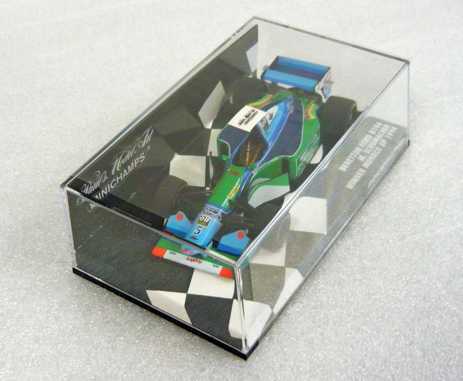 MINICHAMPS 400940035, BENETTON FORD b194, Winner Monaco gp`94 Schumacher, 1/43 NEUF | Outlet