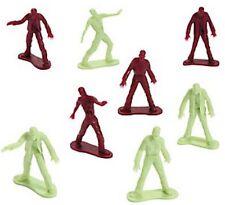 Pack of 12 - Plastic Zombie Figures - Halloween Party Loot Bag Fillers