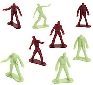 Image is loading Pack-of-12-Plastic-Zombie-Figures-Halloween-Party- cbadf3047