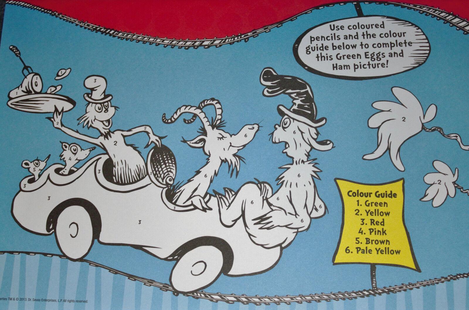 Dr Seuss Green Eggs Ham Activity Placemats By Bonnier Publishing