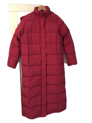 L.L. Bean Womens  Down Filled Trench Puffer Parka