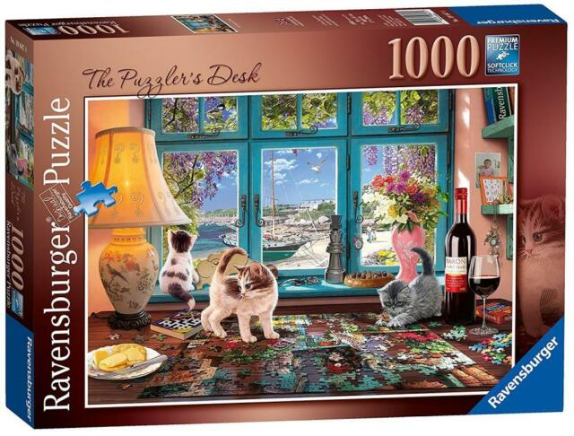 Ravensburger 19847 High Quality The Puzzler's Desk 1000 Pieces Jigsaw Puzzle