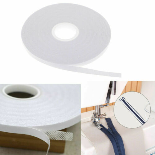 20 M Double Sided Tape Adhesive Quilting White Wash Away Sewing Craft DIY 6mm