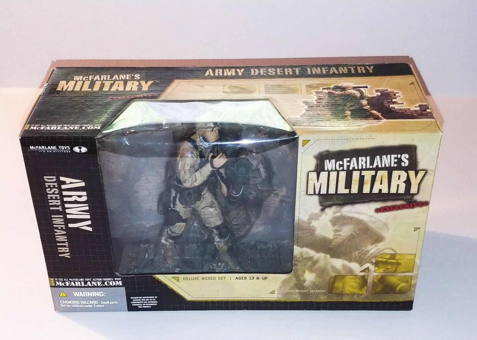 McFarlane Military  Army Desert Infantry Deluxed scatolaed  Set exclusive. nuovo  prima qualità ai consumatori