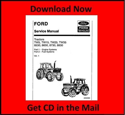 Ford TW-5, TW-15, TW-25, TW-35 Tractor Service Repair Manual CD | eBayeBay