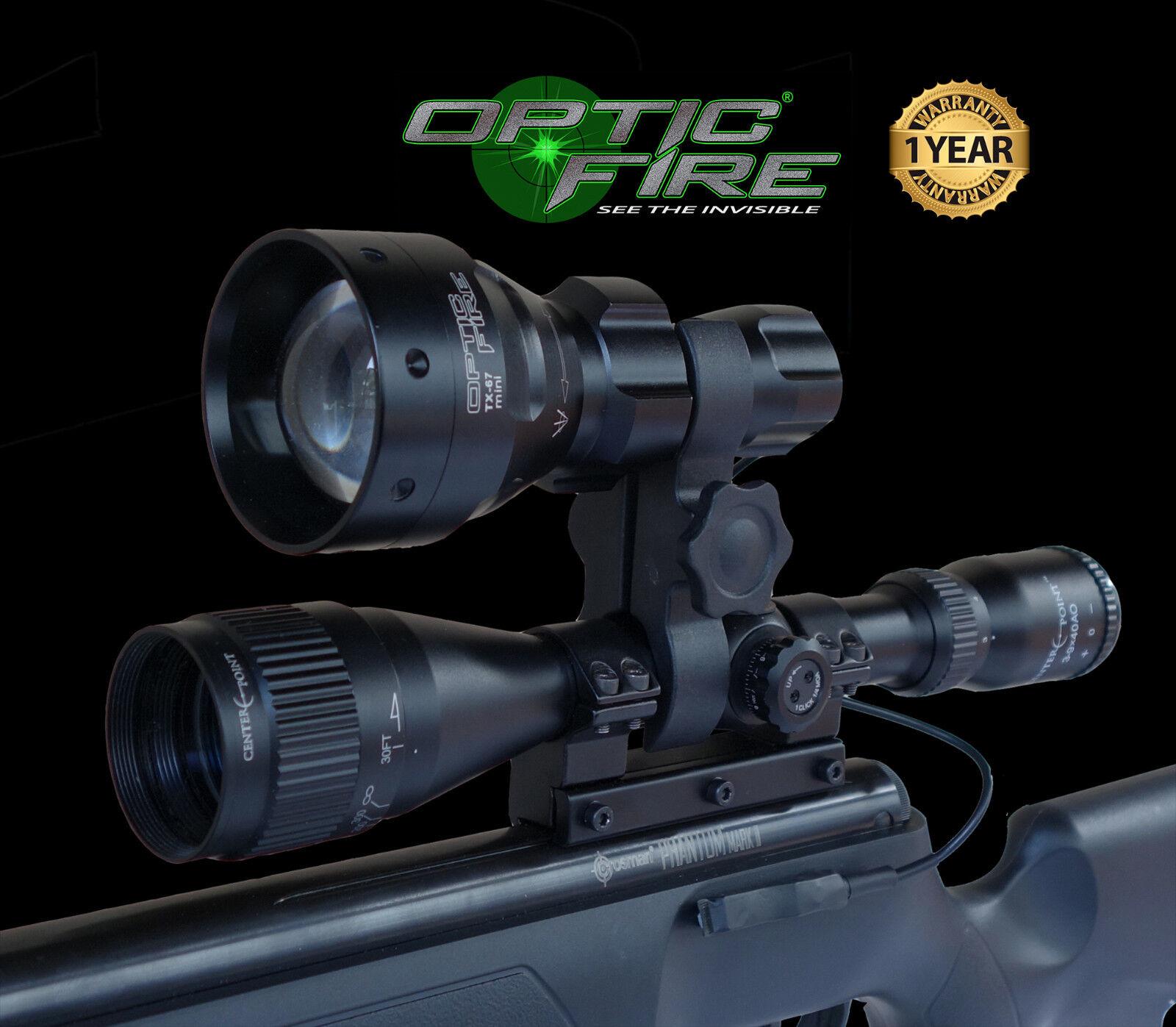 Opticfire® TX-67 T67 mini LED hunting light torch scope mount lamp lamping kit