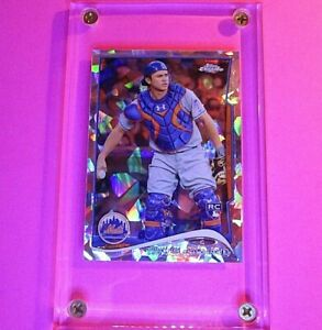 Travis-D-039-Arnaud-2014-Topps-Chrome-124-ATOMIC-REFRACTOR-Rookie-RC-d-10-MINT