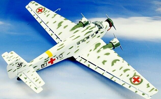 Franklin Mint JU52-3M Junkers Ambulance Medical Evac. Luftwaffe 1 48 B11E209