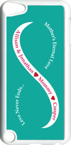 Teal Green /& White Mother/'s Love with Red Names iPod Touch 5th Gen 5G Case