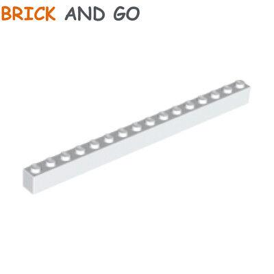 4x Lego parts 1 x 16 brick White 2465
