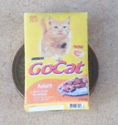 1:12 Scala Vuoto Gocat Pacchetto Cibo Casa Delle Bambole Gattino Gatto Accessorio Animali Pet-mostra Il Titolo Originale
