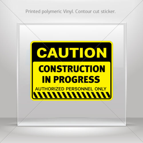 Decals Stickers Caution Construction In Progress Vehicle st5 X44X4