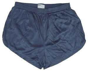 Soffe-Crown-Blue-Nylon-Ranger-Panties-Silkies-Running-Track-Shorts-Men-039-s-Large