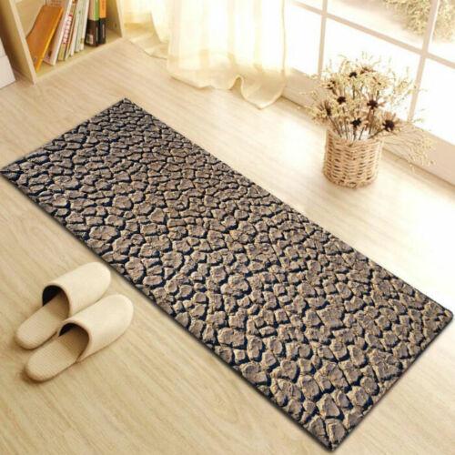 Palm Fußmatte Teppich Bad Plüsch Anti-Rutsch-Matte Wohnzimmer Haushaltsdekor D