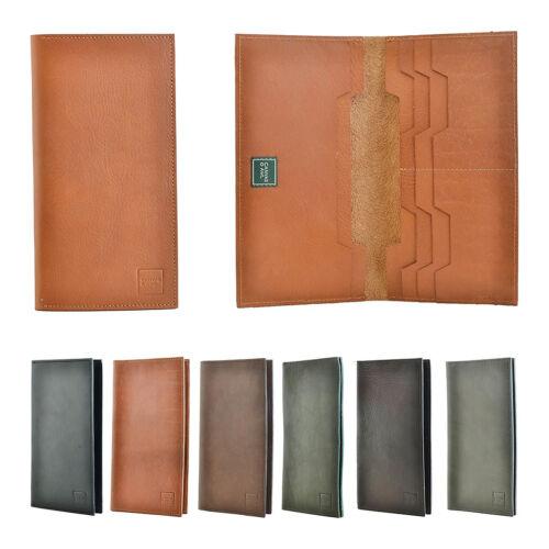 NEW Genuine Leather Travel Wallet Ticket Passport Holder ID Document Organizer