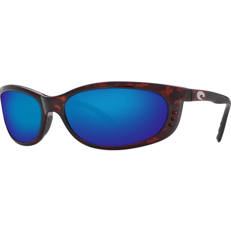 Costa del Mar Fathom Global Polarized Sunglasses Tortoise Blau Mirror 400G Glass