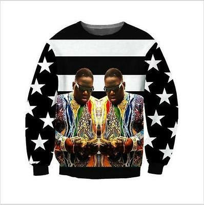 New Mens/Womens Biggie Smalls Stripes 3D Print casual Sweatshirt hoodies LW20