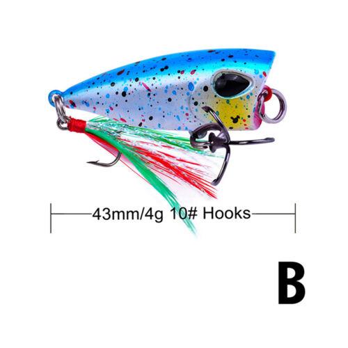 4 g Mini Popper Köder Forellenköder Ultraleichtfischköder TopwatYRDNID 4,3 cm