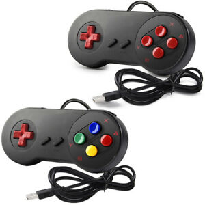 Details about 2PCS INNEXT SNES Retro USB Super Controllers For Apple Mac OS  PC Win 7 8 10 XP