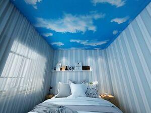 Ceiling Blue Sky Cloud Wallpaper Pvc