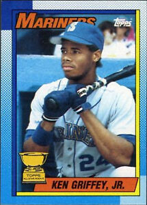 Topps Tiffany 1990 Ken Griffey Jr Seattle Mariners 336 Baseball Card