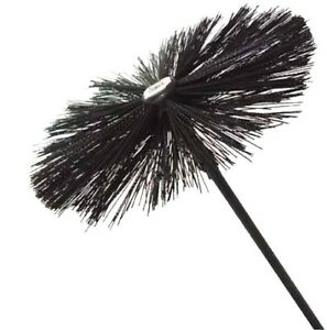 Single Drain Rod With 16 Quot Chimney Sweeping Brush Fancy