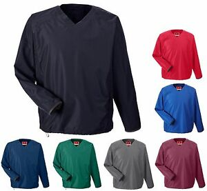 WIND /& WATER RESISTANT V-NECK WINDSHIRT SEAM POCKETS MEN/'S PULLOVER S-5XL