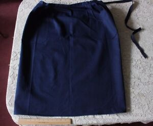 "Antique French Indigo Heavy Workwear Cotton Chore Apron c1910~32""L X 39""W"