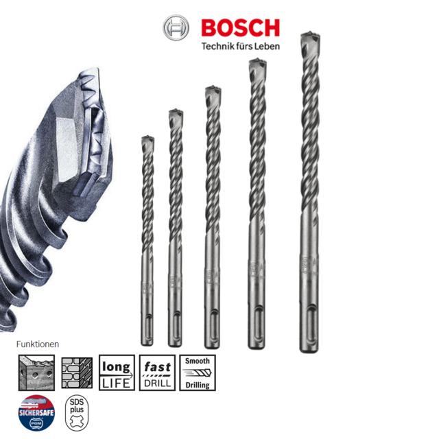 Bosch SDS Plus Betonbohrer Steinbohrer Hartmetallbohrer, Beton, Mauerwerk, GBH