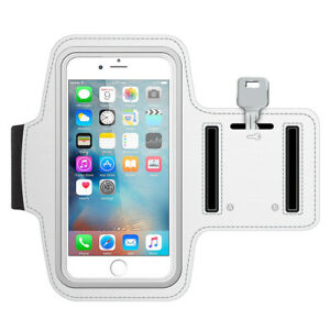 Sportband for iPhone 5 5C 5S SE (White) Water Resistant Stretchable Arm Slots