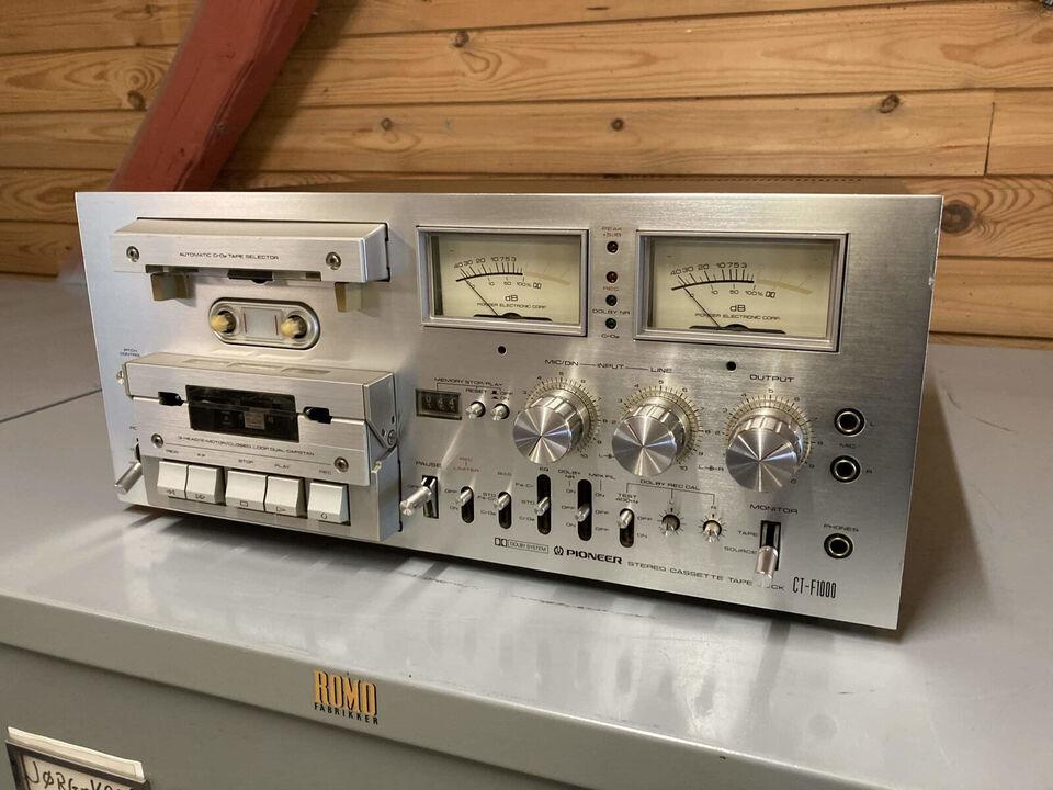 Pioneer CT-F1000 – Top-restaureret vintage High...