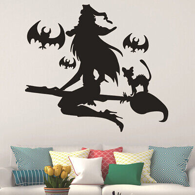 Bat Broom Wall Decal Stickers Removable