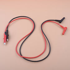 Multimeter Heavy Duty Banana Plug To Alligator Clip Test Hook Probe Cables
